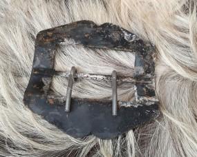 Messingschnalle 80mm rostig-schwarz