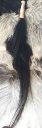 Pferdeschweif schwarz mit Griff